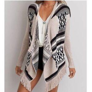 AE Fringe Sweater Cardigan
